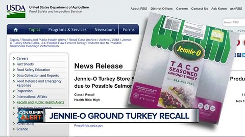 Over 91K pounds of ground turkey recalled due to possible salmonella contamination