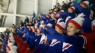 North Korean cheerleaders steal the spotlight at Winter Olympics - Video