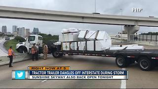 Tropical Storm Emily weather leads to traffic mess - Video