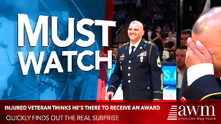 Injured Veteran Thinks He's There To Receive An Award, Quickly Finds Out The Real Surprise - Video