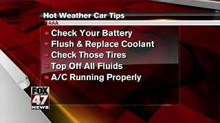 Tips from AAA to keep your car running cool in hot temps - Video
