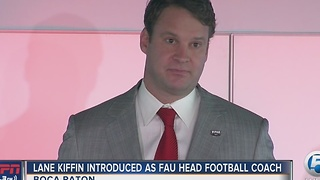 FAU makes hiring of Lane Kiffin official - Video