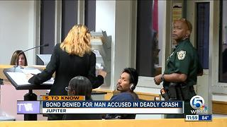 Judge denies bond for driver charged in Jupiter crash that killed 2 EMTS - Video