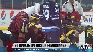 Tucson Roadrunners player collapses - Video