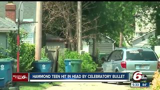 Hammond teen critically injured after he was hit in the head by a falling bullet - Video
