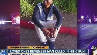 Loved ones remember man killed in New Year's Day hit-and-run crash in Spring Valley