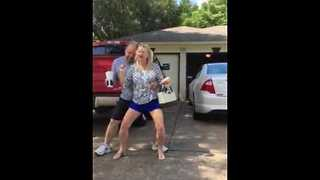 Parents embarrass daughter with public dancing - Video