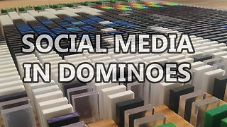 Guy Creates Social Media Logos Using 17,000 Dominoes - Video