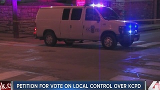 Petition for vote on local control of KCPD - Video