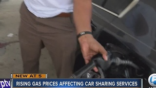 Rising gas prices affecting car sharing services - Video