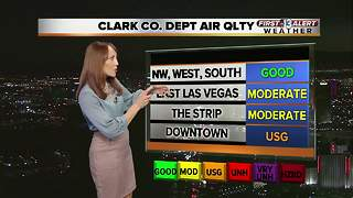 Air quality advisory in Clark County extended through Friday