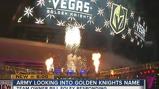 U.S. Army looking into choice of name for hockey team in Las Vegas - Video