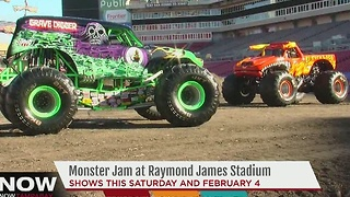 Monster Jam at Raymond James Stadium - Video