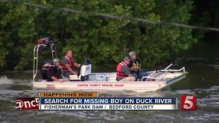 Crews To Resume Search For Missing Boy In Duck River - Video