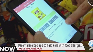 Parent develops app to help kids with food allergies - Video