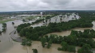 Drone Footage Shows Flooding in Houston Suburb of Cypress - Video