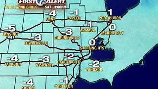 Bitterly cold air is back! - Video