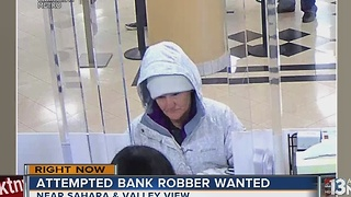 Las Vegas police seek woman who attempted to rob bank Tuesday