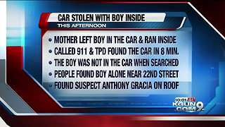 Man facing charges after stealing car with toddler inside - Video