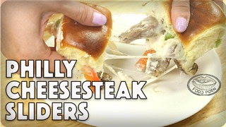 How to make Philly cheesesteak sliders - Video