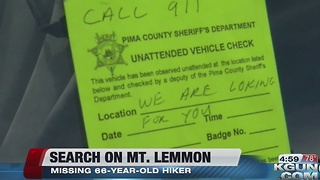Crews continue search for missing hiker on Mount Lemmon - Video
