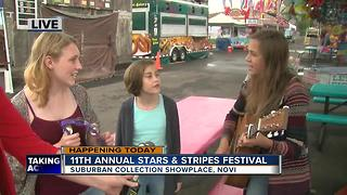 Triple the Trouble performing at annual Stars and Stripes festival in Novi - Video