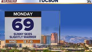 Chief Meteorologist Erin Christiansen's KGUN 9 Forecast Sunday, December 4, 2016 - Video
