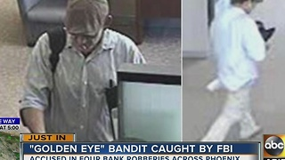 FBI: PHX man charged with 4 bank robberies - Video