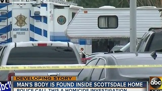 Police investigating homicide at Scottsdale home - Video