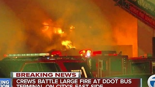 6-8 DDOT buses lost in fire this morning - Video