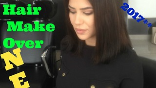 2017 Hair Make over .Long Hair to short TIPS by Top Stylist Amal Hermuz Hair TV Vivyan Hair Design  - Video