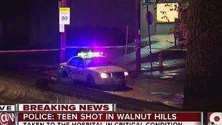 Teen shot in Walnut Hills - Video