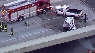 Aerials of a fatal wrong-way crash on the Skyway Bridge - Video