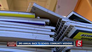 Dee Davis Holds 3rd Back To School Community Day - Video
