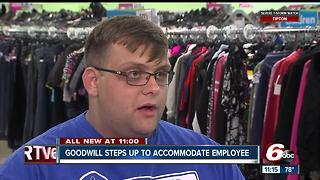 Goodwill steps up to accommodate employee with disabilities - Video