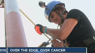 Six battles with cancer later, Colorado woman goes 'Over the Edge' - Video