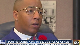 Man pardoned aims to become Baltimore police officer - Video