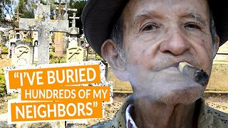 Not afraid of death: Tale of a grave digger - Video
