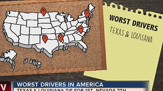 Texas, Louisiana top survey of worst drivers in America - Video