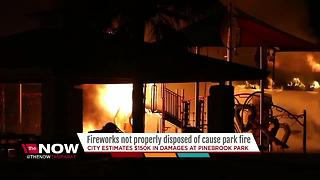 Playground destroyed by improperly disposed fireworks in Pinellas Park - Video