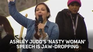 Ashley Judd kills it at the Women's March on Washington - Video