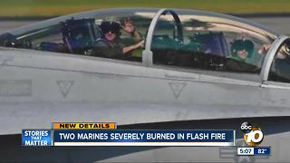 Two Marines severely burned in flash fire on base - Video