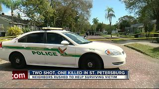 Two shot, one dead in St. Petersburg - Video