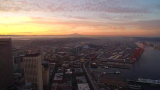 Urban vs Nature: Drone captures Seattle's incredible scenery
