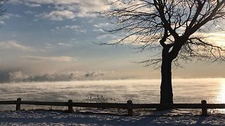 Temperatures Plunge Along Lake Superior, Creating Sea Smoke - Video