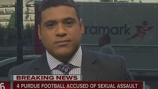 Four Purdue football players accused of sexual assault - Video