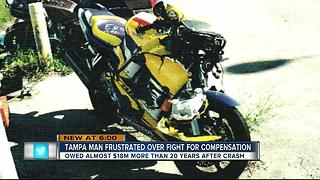 Tampa man frustrated over fight for compensation for 20-year-old crash, owed $18M - Video