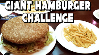 Giant Hamburger Challenge in Laughlin, NV | FreakEating - Video