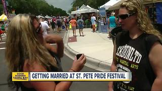 Marriage proposals at 2017 St. Pete Pride - Video