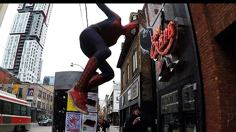 "Friendly Spider-man ""pays the price"" for being street superhero"